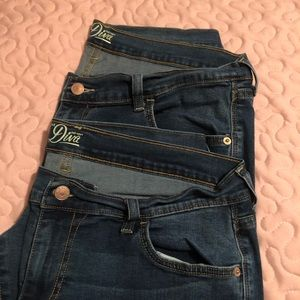 2 Pair Old Navy Diva Jeans